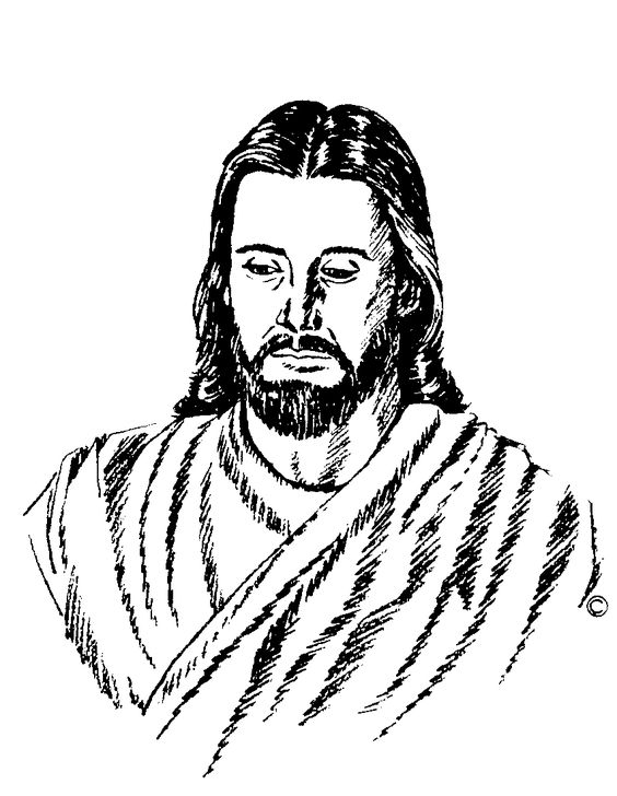 564x728 Christ Clipart Closed