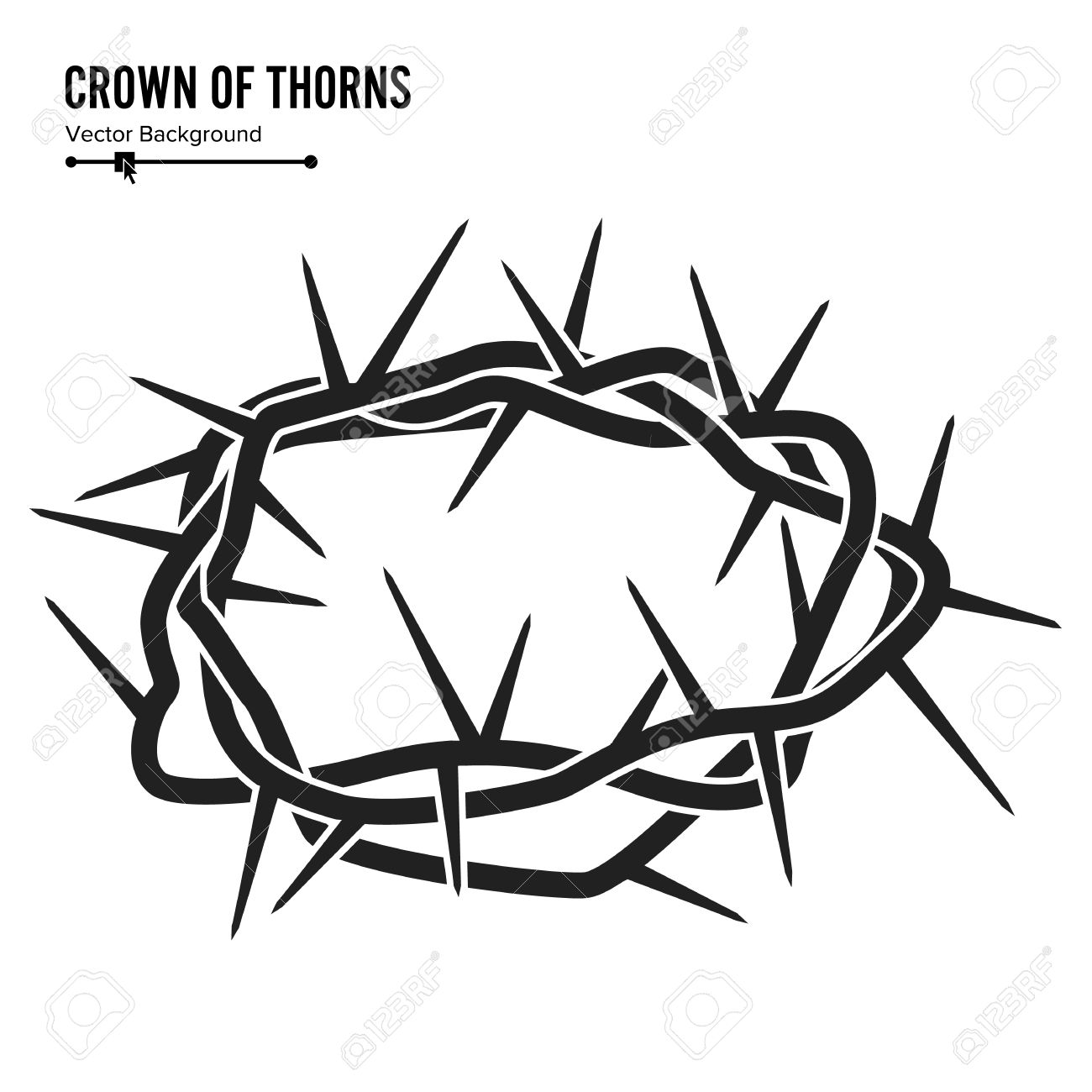 1300x1300 Crown Of Thorns. Silhouette Of A Crown Of Thorns. Jesus Christ