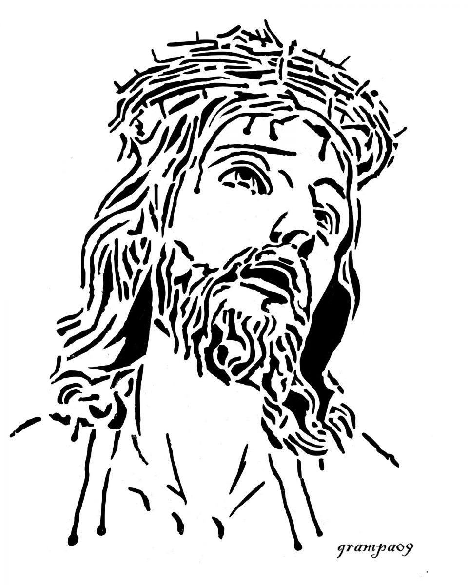 960x1200 Fresh Coloring Page Of Jesus With Crown Thorns SimilarpagesCo