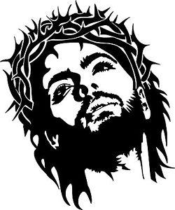 250x300 Jesus Christ Crown Thorns God Car Truck Window Laptop Vinyl Decal