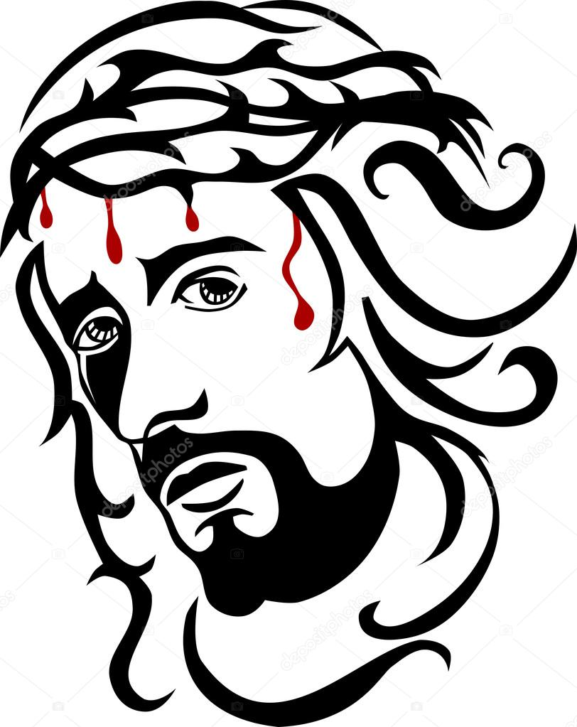 812x1023 Jesus With Crown Of Thorns Stock Vector Paul74