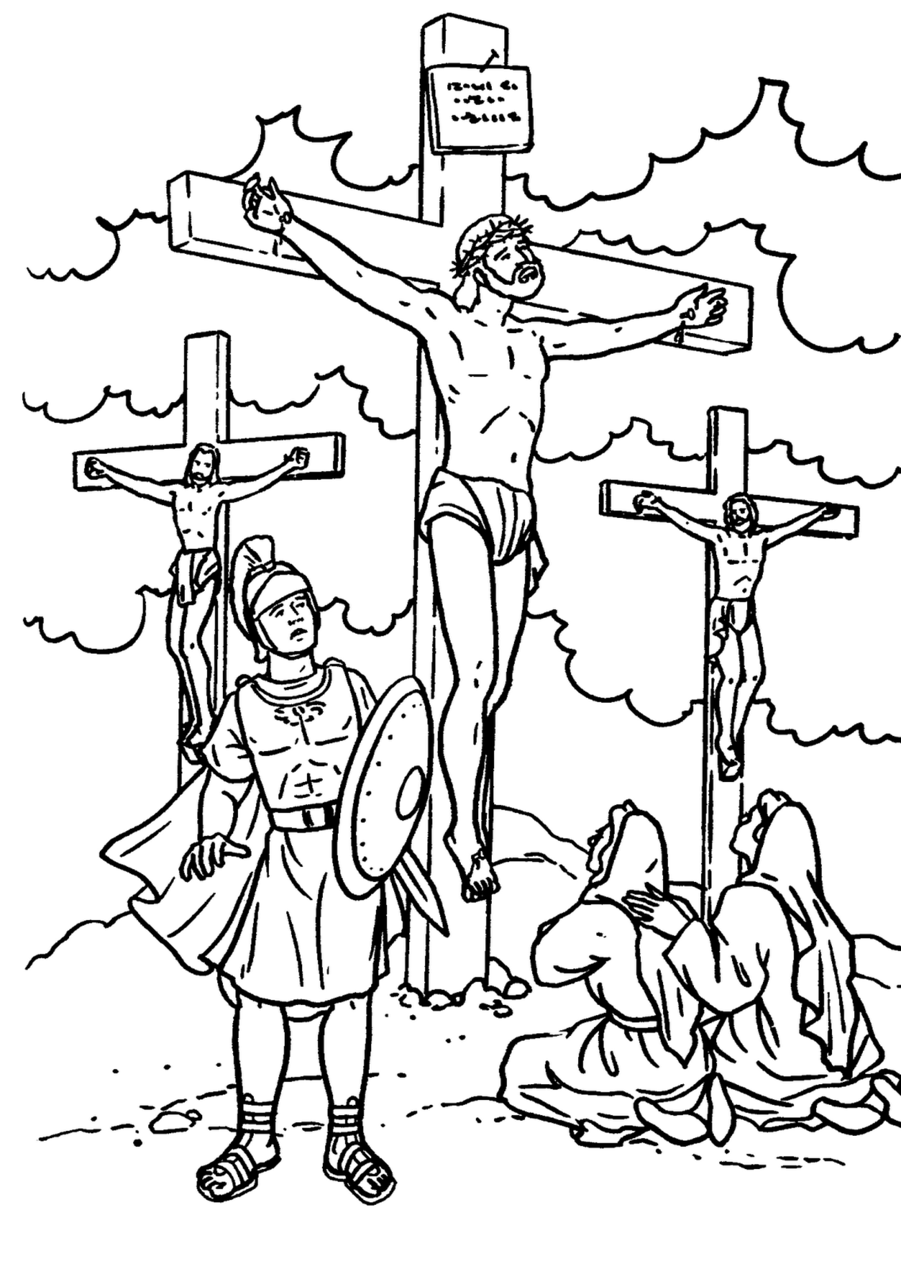 Jesus Crucified Drawing at GetDrawings.com | Free for personal use ...