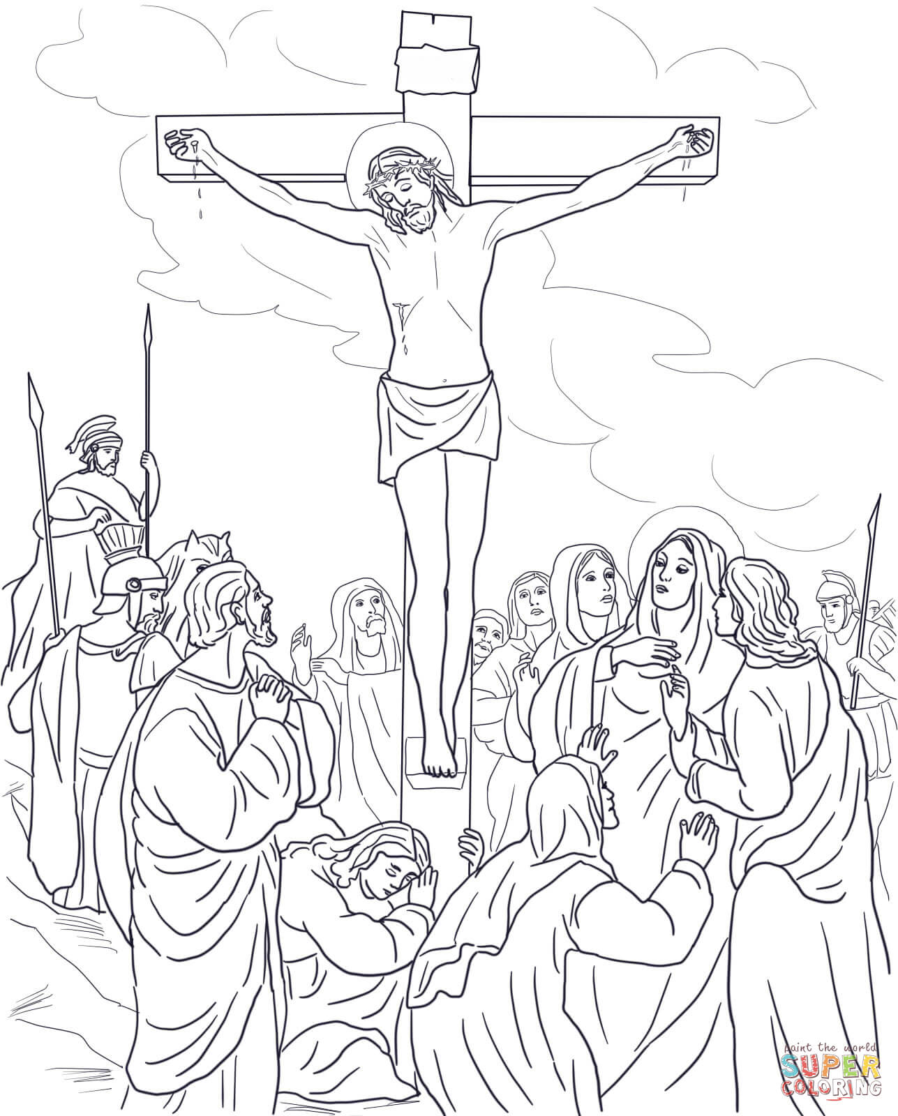 Jesus Coloring Page Pictures Good Pages 1287x1600 Twelfth Station 346x247 Was Krishna Crucified