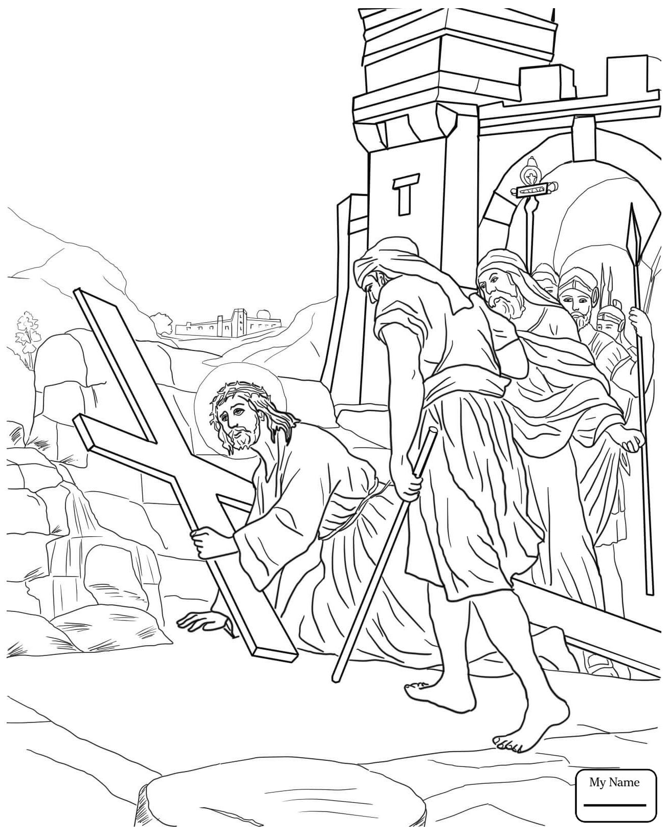 1306x1632 Good Friday Holidays Crucified Christ Coloring Pages For Kids