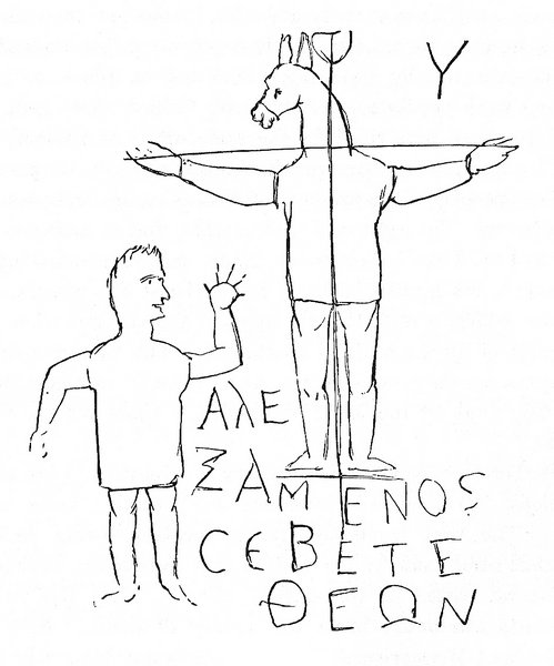 499x600 Crucified Donkey Man And Martyrdom In The Circus Late Antique