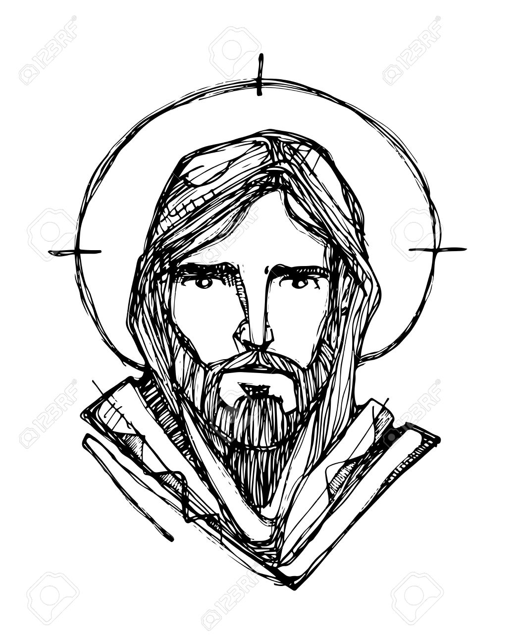 Line Drawing Of Jesus Face : Jesus drawing images at getdrawings free for