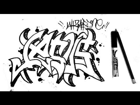 480x360 How To Draw Graffiti Name