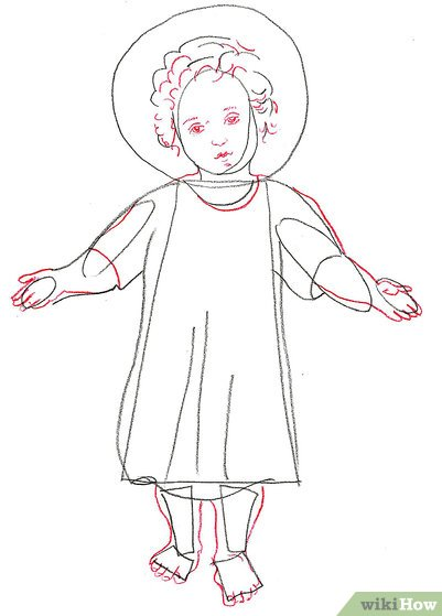401x559 How To Draw Baby Jesus 8 Steps (With Pictures)