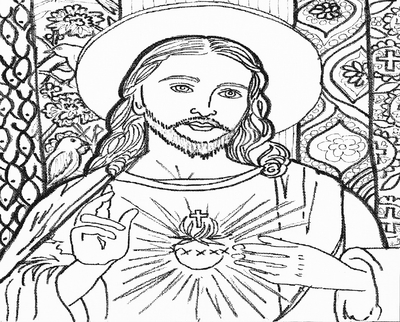 400x322 Pencil Drawing Of Jesus Coloring Page Image Clipart Images