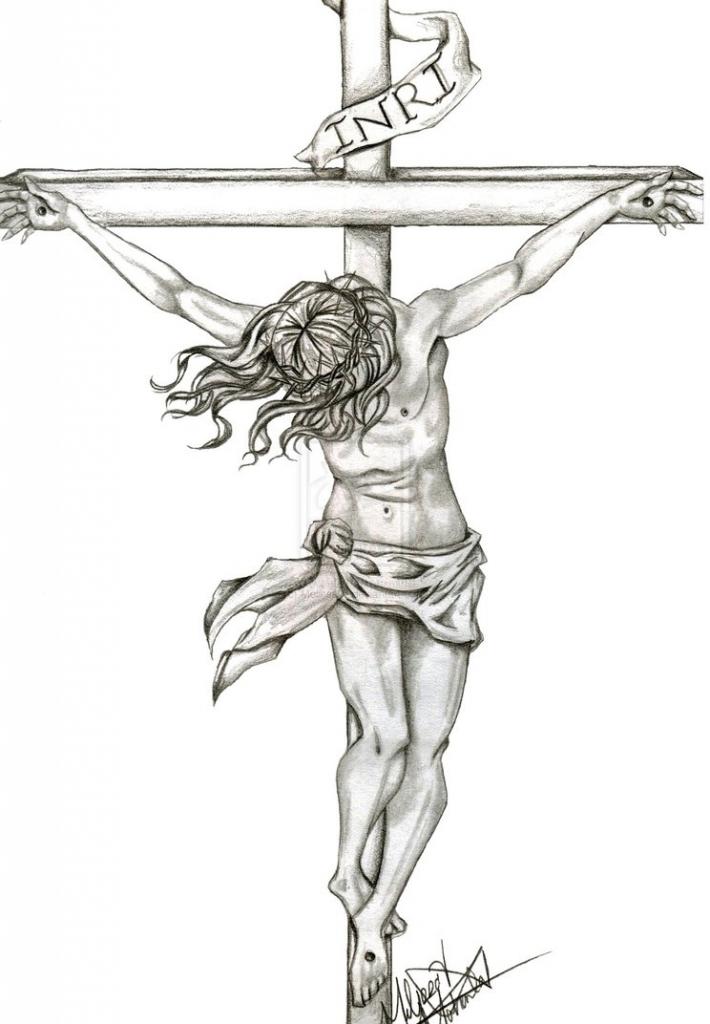 710x1024 Pencil Drawings Of Jesus On The Cross Top Crow Pencil Drawings