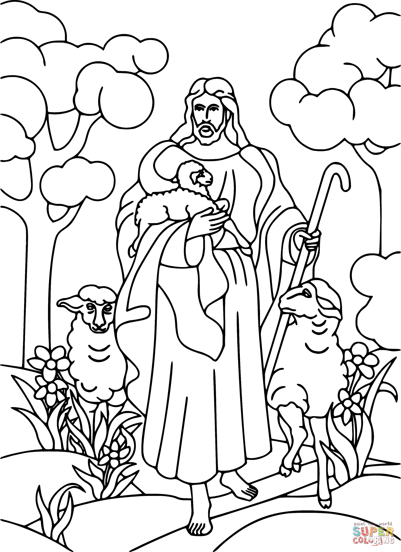 1236x1600 Jesus Healing The Sick 1396x1920 Holding Lamb Coloring Page Free Printable Pages