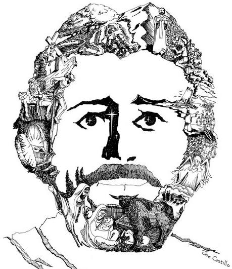 459x531 Joe Castillo's Face Of Christ Mark Armstrong Freelance Humorous