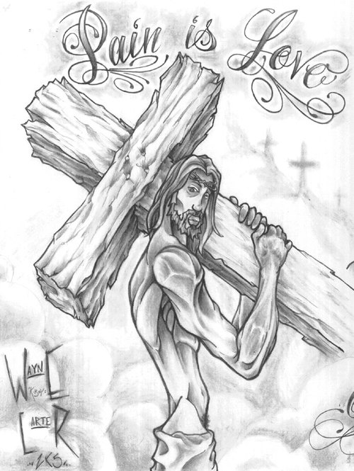 500x665 Pain Jesus Drawing Merry Christmas Amp Happy New Year Arts