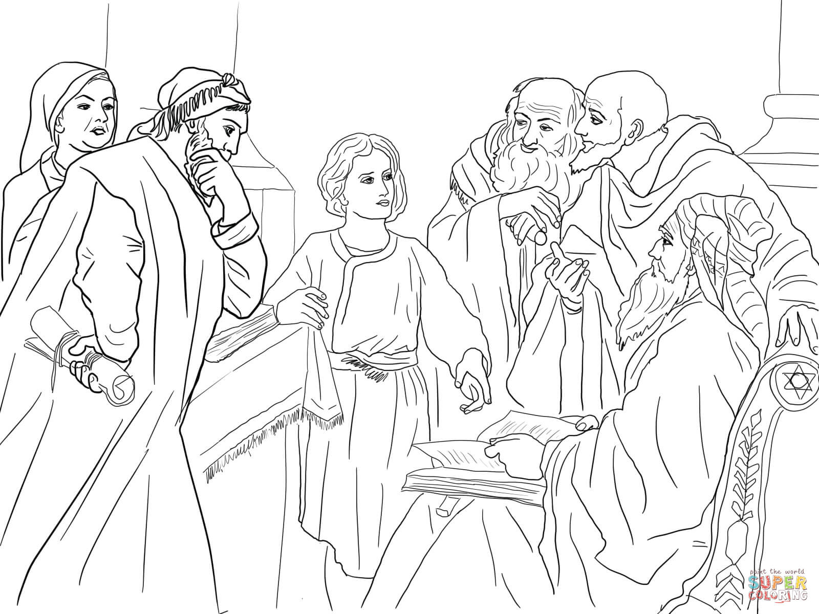 1600x1200 Boy Jesus In The Temple Coloring Page Free Printable Coloring Pages