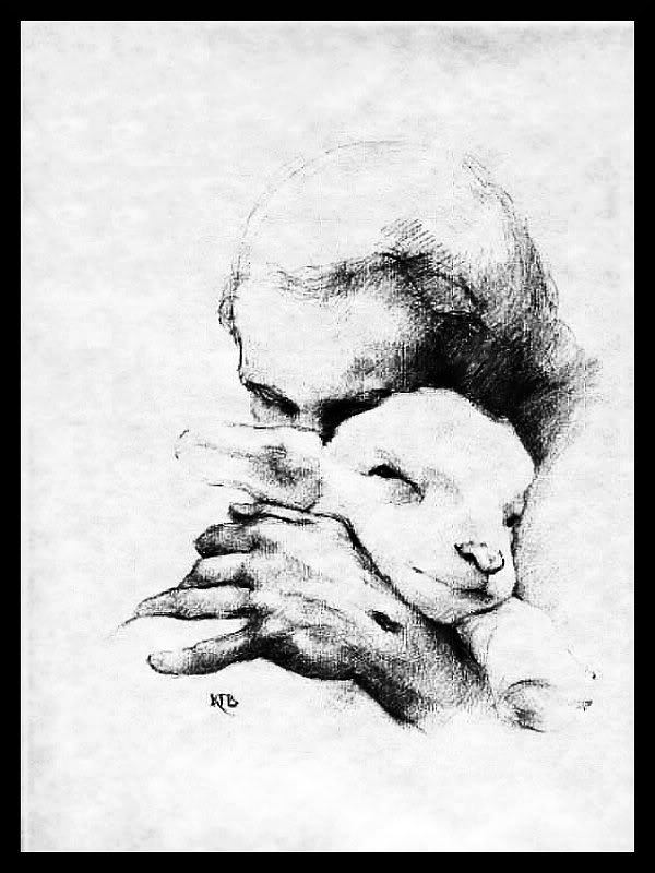 600x800 Drawn Lamb Jesus