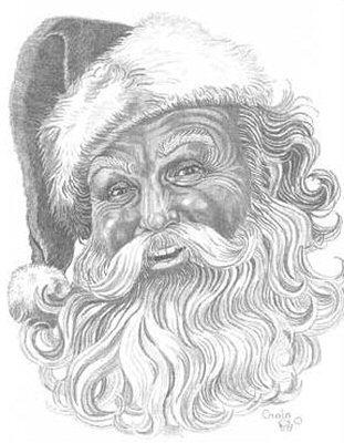 311x400 Old Man Christmas Pencil Sketch