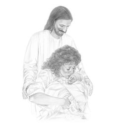 236x258 Pencil Drawing Of Twin Baby Girls Being Held By The Savior. Fun