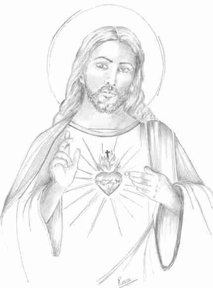 430x581 sacred heart drawings 430x581 sacred heart drawings 833x1024 simple pencil