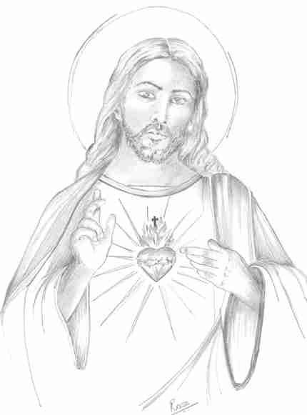 430x581 Sacred Heart Drawings