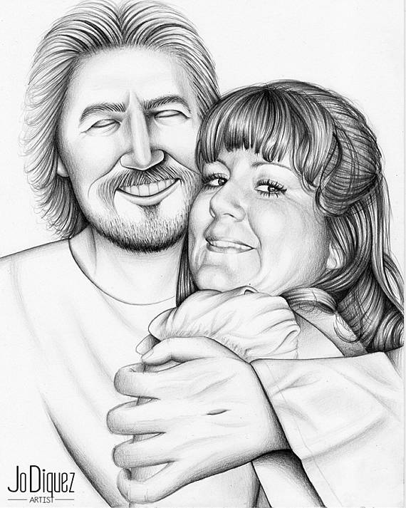 570x713 Drawing Of Happy Jesus Embracing A Person. Custom Pencil