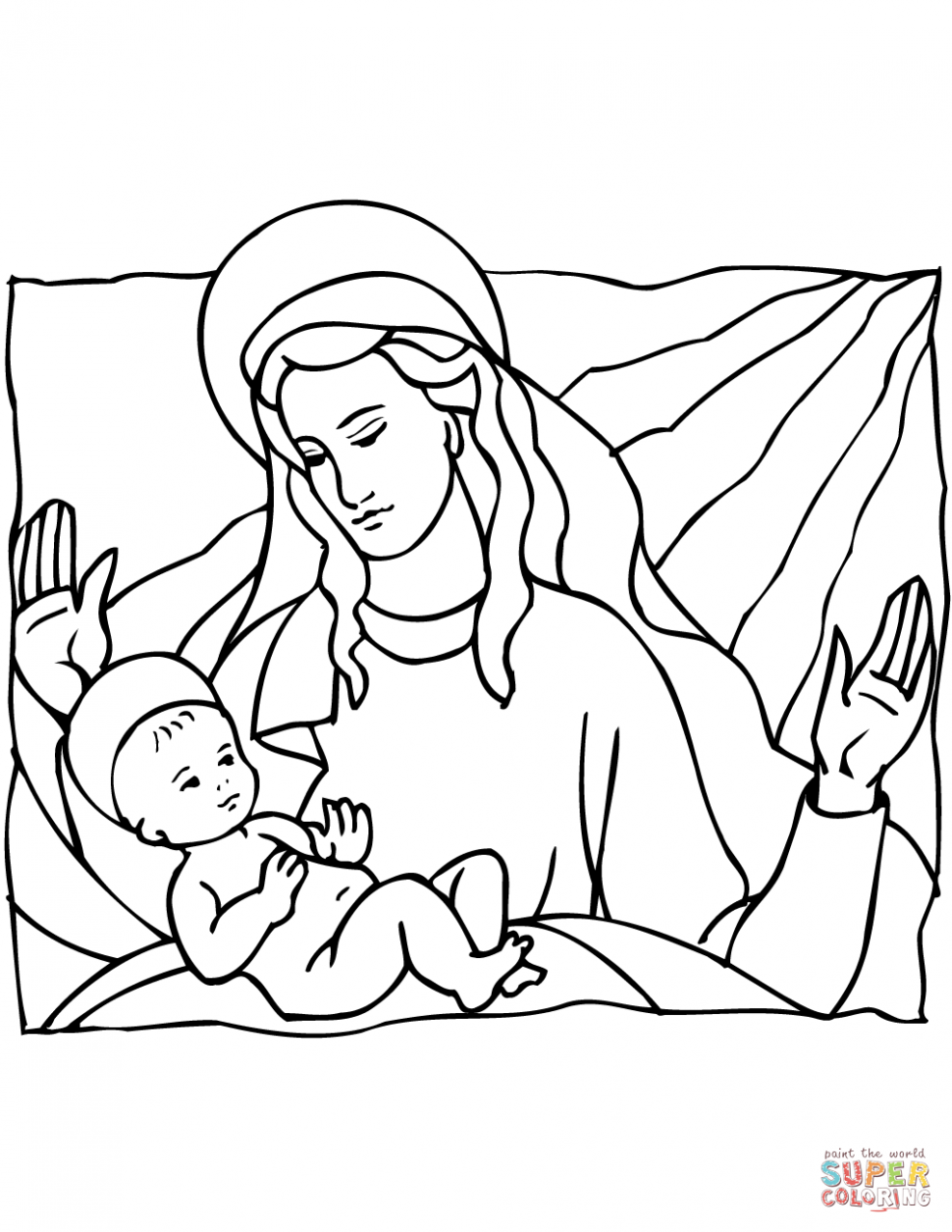 970x1255 Coloring Baby Jesus Manger Scene Coloring Page Free Printable