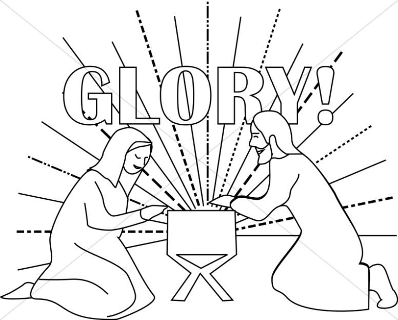776x623 Glory Baby Jesus In Manger Manger Clipart