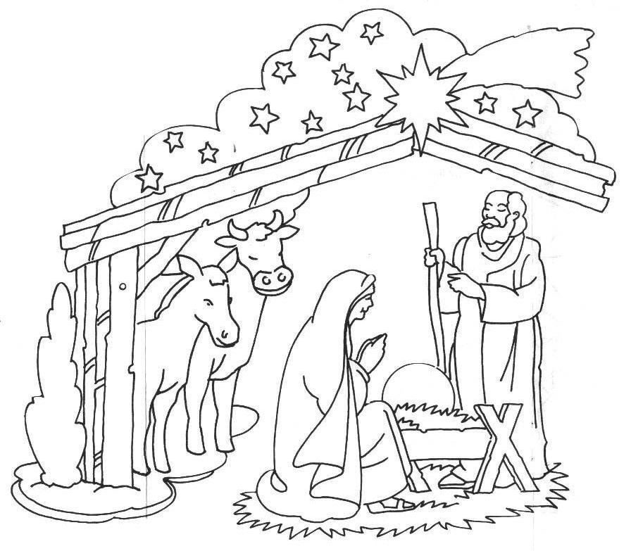 896x783 Jesus Birth Drawing Jesus Birth Images For Drawing