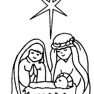 Jesus Manger Drawing At Getdrawingscom Free For Personal Use