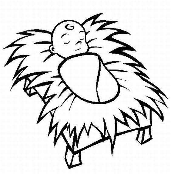 564x574 Baby Jesus Manger Clipart 101 Clip Art