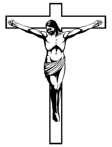 jesus on cross drawing at getdrawings com free for personal use rh getdrawings com jesus carrying the cross clipart jesus on the cross clipart free