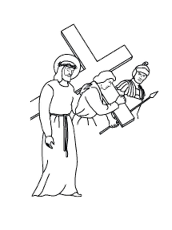 720x960 Carrying The Cross Silhouette Jesus Clipart