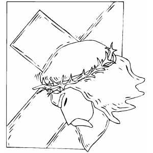 300x300 Christmas Cross Coloring Pages Xmas Jesus Learn To