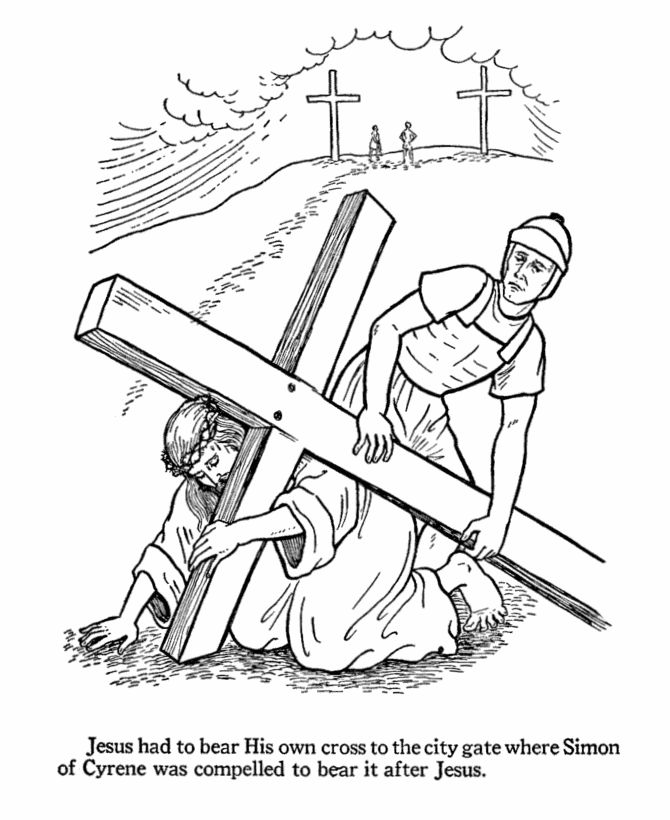 Jesus On The Cross Drawing at GetDrawings.com | Free for personal ...