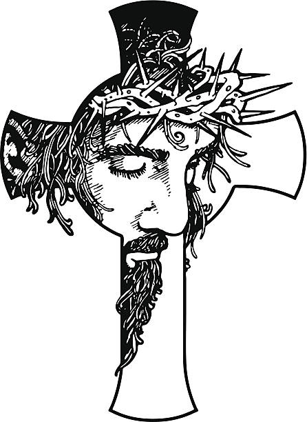 Jesus On The Cross Pencil Drawing At Getdrawings Com