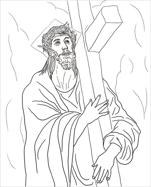 585x725 Sacred Heart Of Jesus Coloring Page