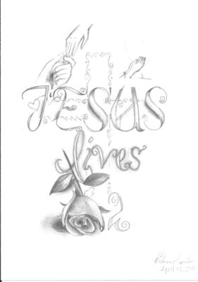 281x400 Sketches Of Crosses Jesus Lives! Art Tattoo