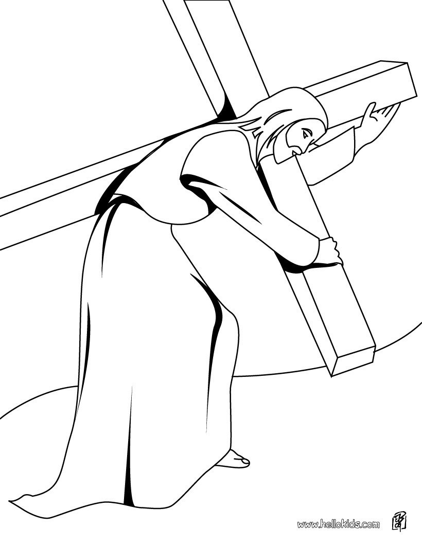 820x1060 Coloring Pages Of Jesus Carrying The Cross Fresh Jesus Christ
