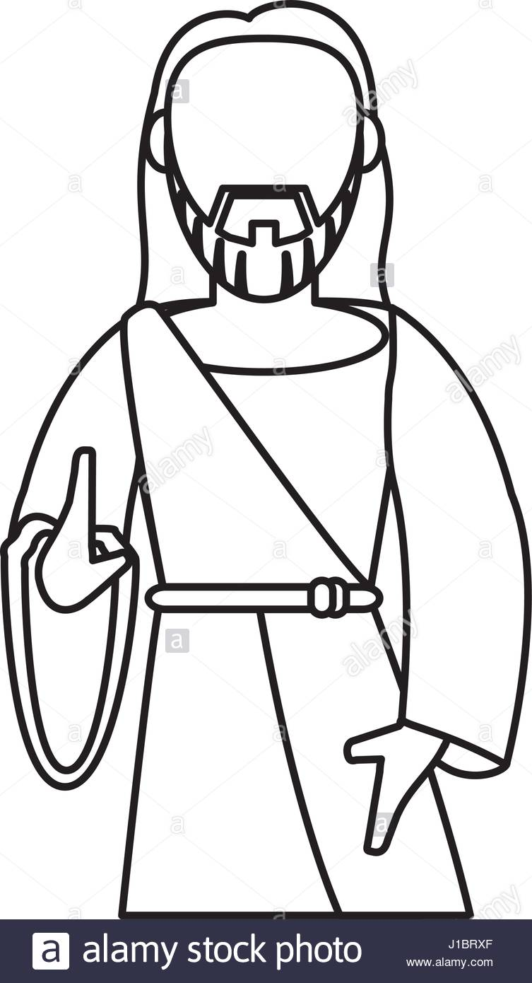 753x1390 Jesus Christ Catholic Symbol Outline Stock Vector Art