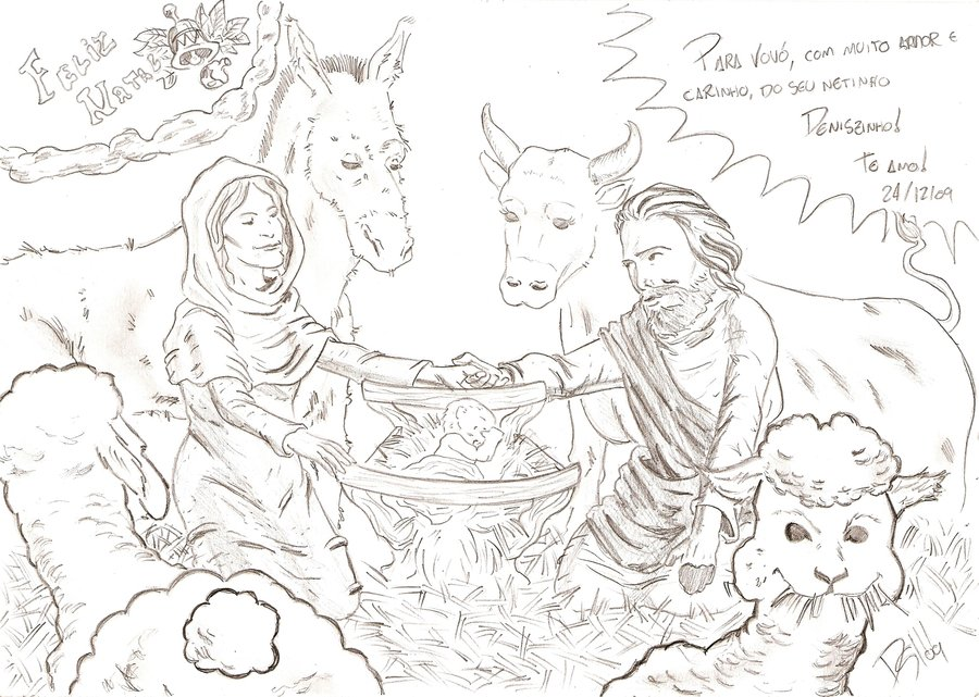 900x641 Jesus' Born By Denis Mello