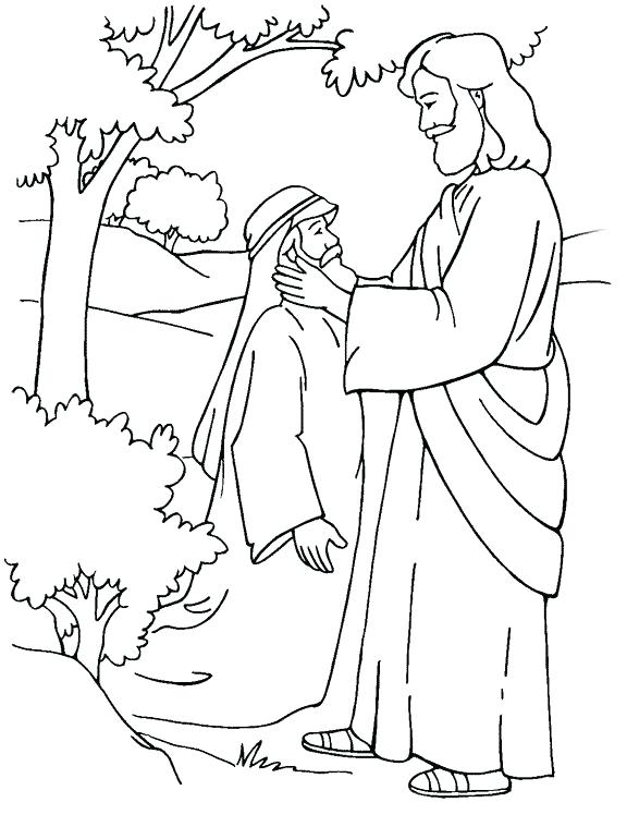 576x770 Lovely Jesus Miracles Coloring Pages Print Bible Ng Images