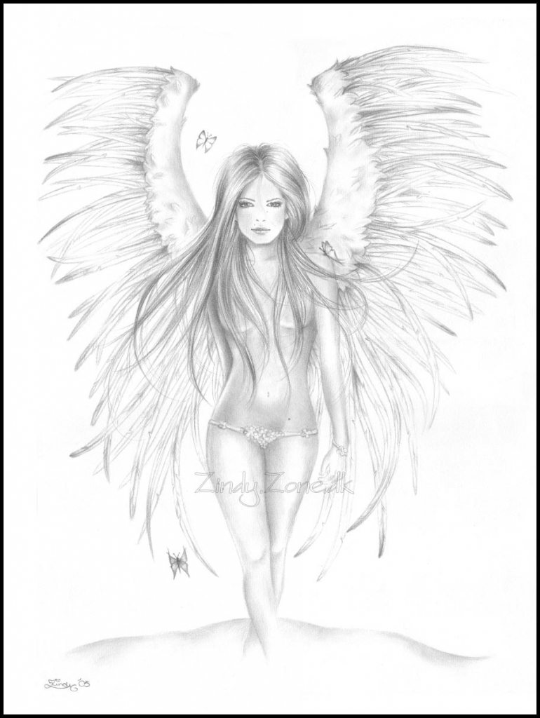 770x1024 Pencil Drawing Of Angels