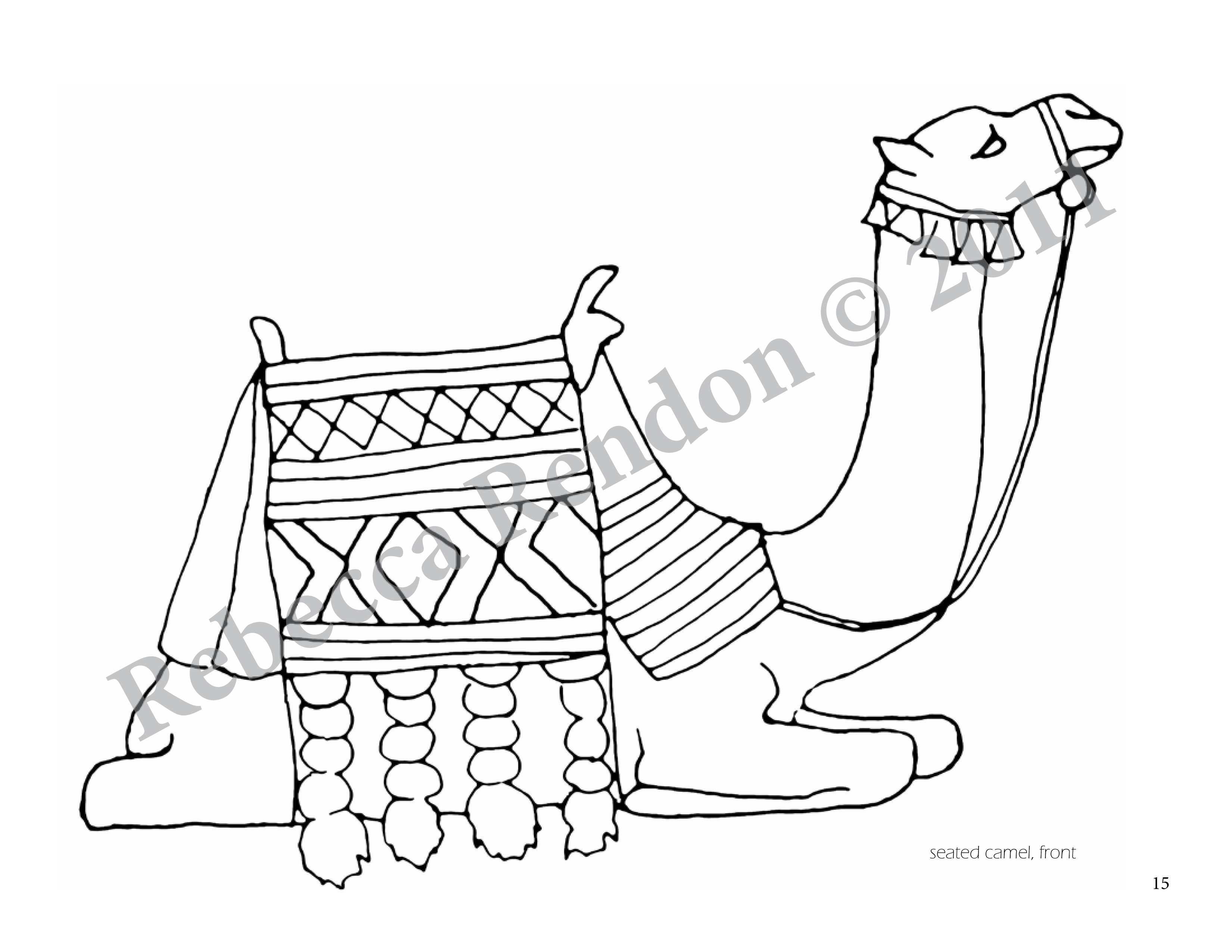 3300x2550 Sitting Camel Manger Coloring Pages Cross Coloring Pages