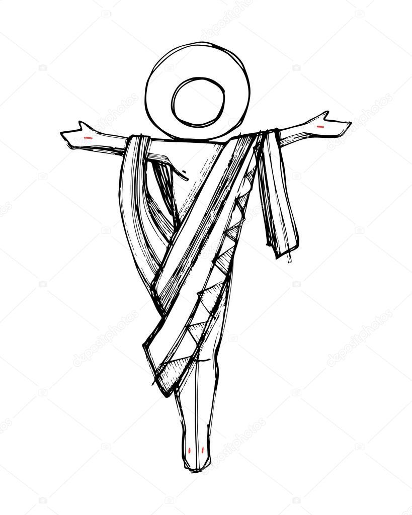 819x1024 Jesus Christ Resurrection Concept Stock Vector Bernardojbp
