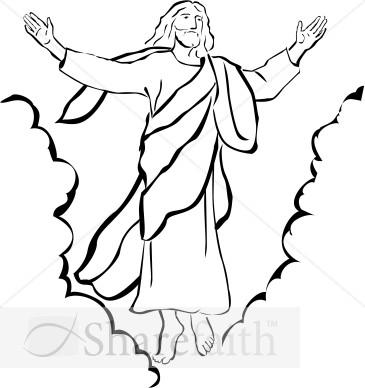 365x388 Jesus Resurrection Black And White Clipart