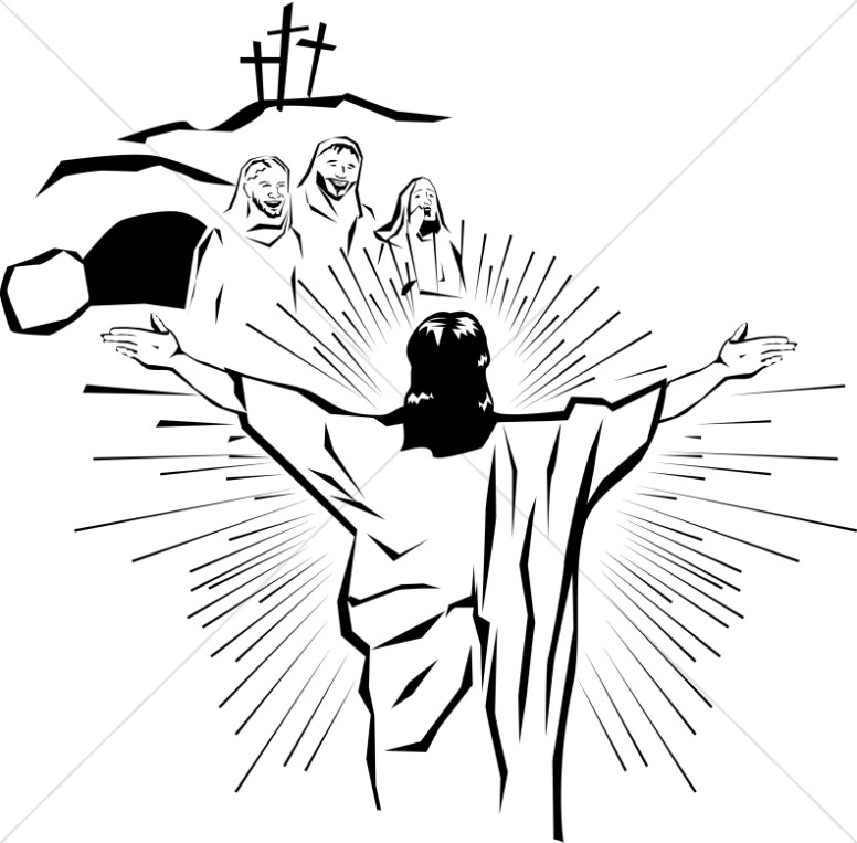 776x763 Resurrected Christ Appears To The People Easter Clipart