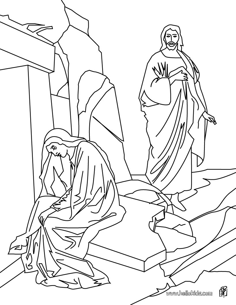 820x1060 Resurrection Of Jesus Christ Coloring Pages Hellokids Com In