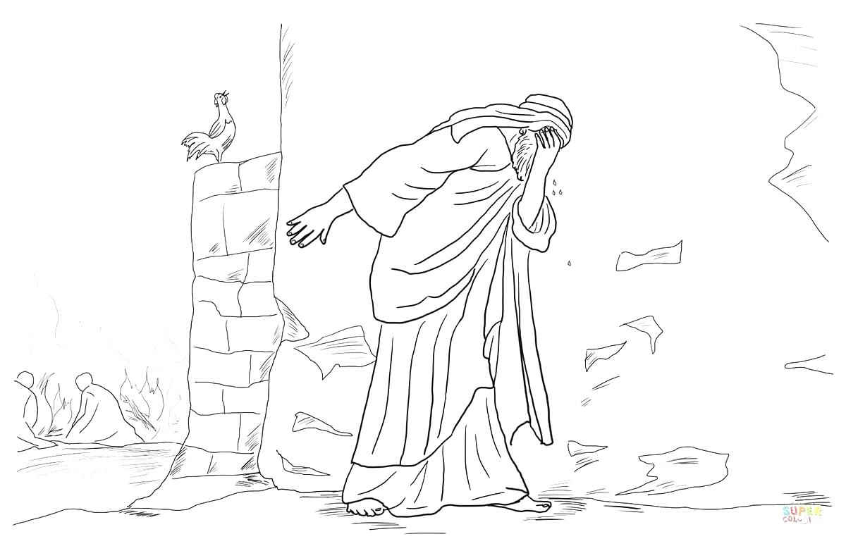 peter denies jesus coloring pages | Jesus Resurrection Drawing at GetDrawings.com | Free for ...