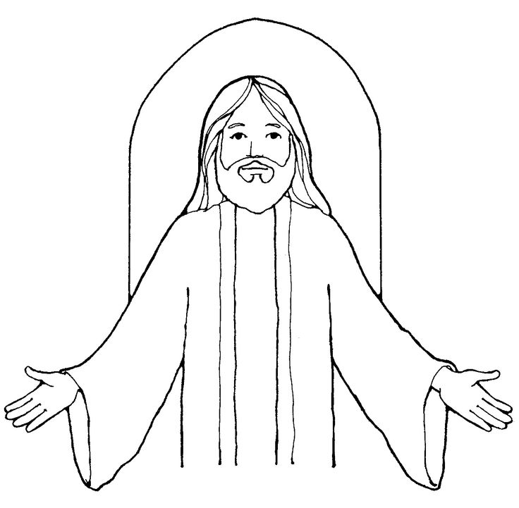 Jesus Simple Drawing at GetDrawings.com   Free for personal use ...