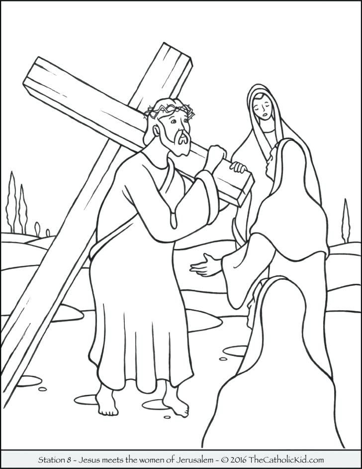 728x942 Jesus On The Cross Coloring Pages Medium Size Of Coloring Pages