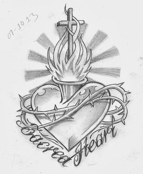 494x603 Tattoo Sketch A Day October 2013